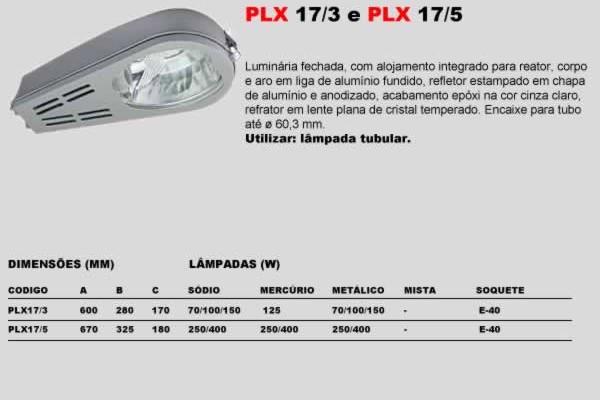 PLX 17 5 e PLX 17 3