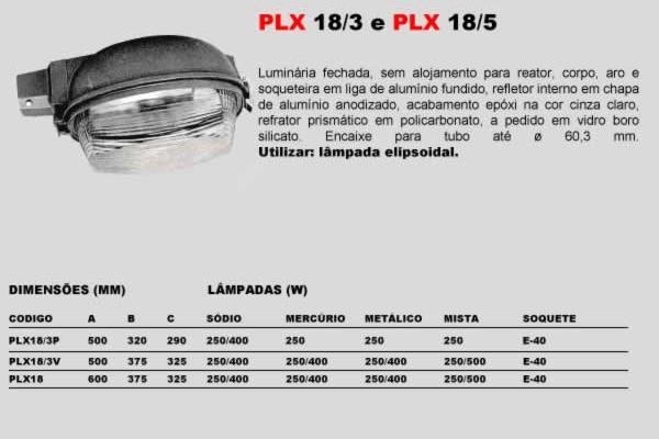PLX 18 5 e PLX 18 3