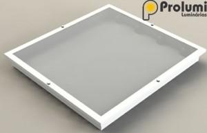 Prolumi Luminárias Luminária de Embutir PL 389 Slim Quadrada